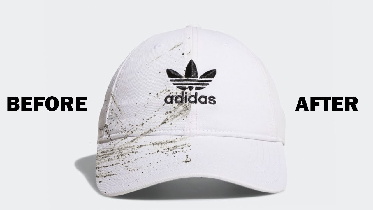 How To Clean A White Hat Easy Removes Dirt Sweat Stains Youtube