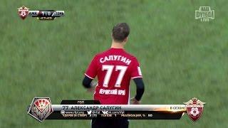 Футбол. РФПЛ. 6-й тур. Амкар - Томь 1:0 47' Александр Салугин
