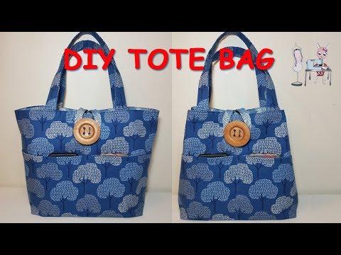 DIY TOTE BAG | HANDBAG | BAG SEWING TUTORIAL | Coudre Un Sac | Bolsa