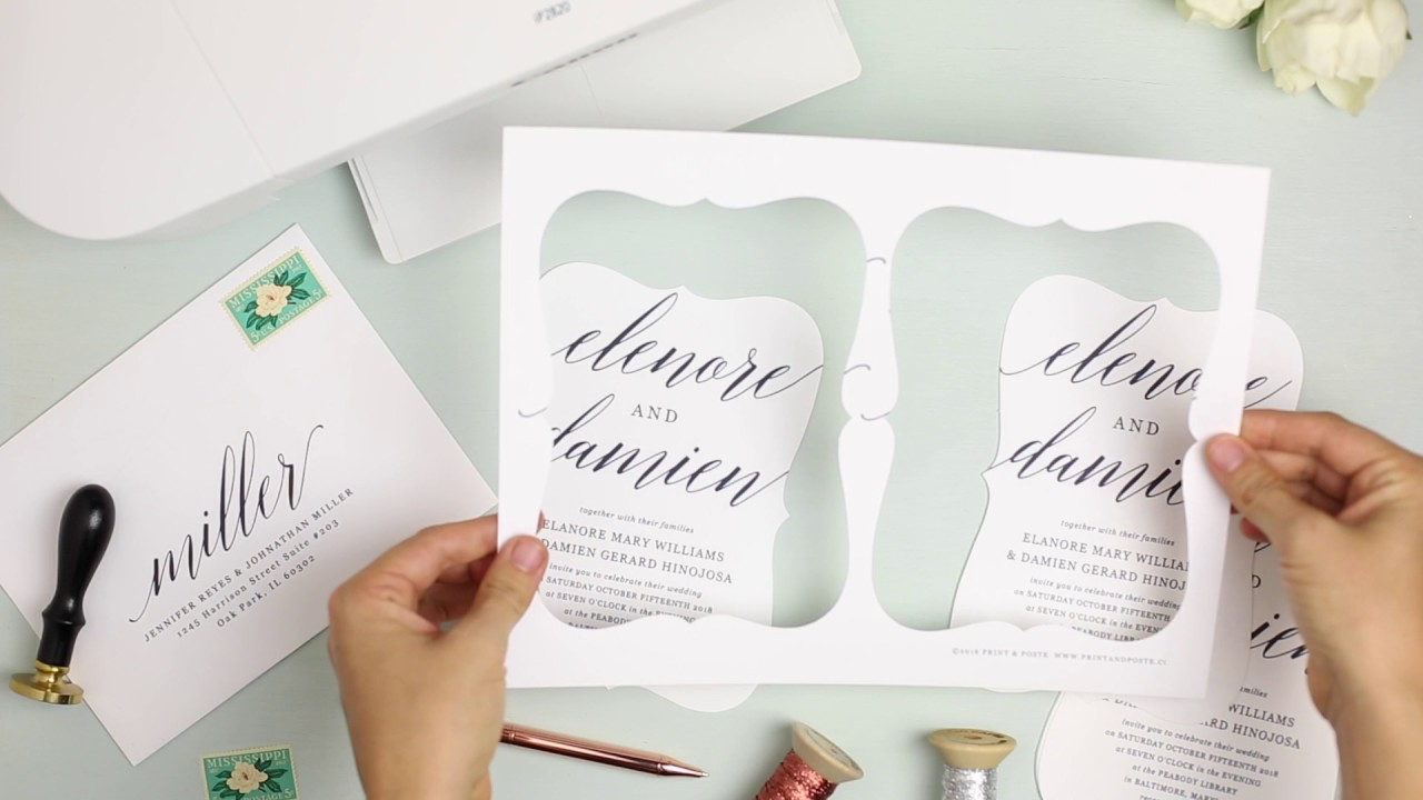DIY Wedding Invitation Templates - YouTube