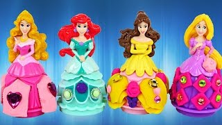 PLAY DOH Disney Princess Full Episodes Ariel Cinderella Rapunzel Playdough Toys Princesa Plastilina