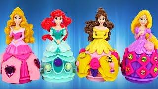 PLAY DOH Disney Princess Full Episodes Ariel Cinderella Rapunzel Playdough Toys Princesa Plastilina