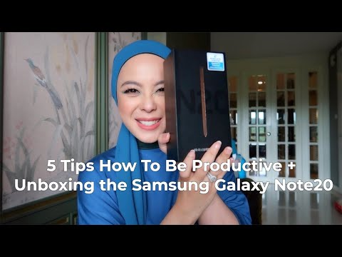 5 Tips How To Be Productive + Unboxing the Samsung Galaxy Note20 | Vivy Yusof