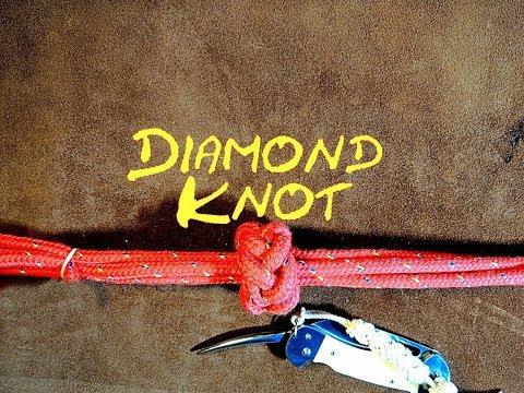 Diamond Knot Multi Strand Diamond Knot Diamond Sennit How to Tie  - (The Tractor Tyer Knot)