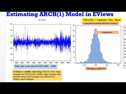 (EViews10) - How To Estimate ARCH Models #arch #timeseries #volatility #modeling #econometrics
