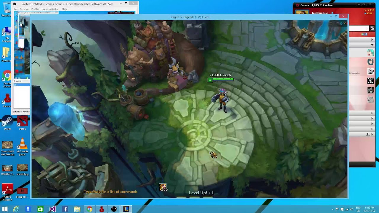 Trying OBS in Garena LoL PH
