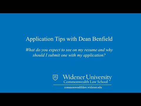 Resumes:  Law School Application Tips | Widener Law Commonwealth