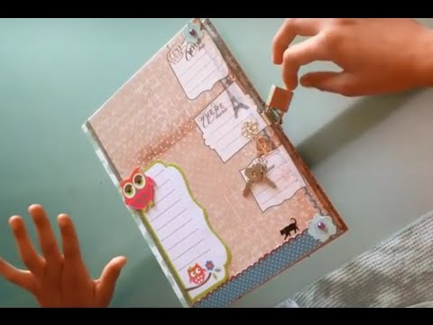 Cr er son journal intime pr sentation de la couverture de mon journal diy - Comment creer un journal ...