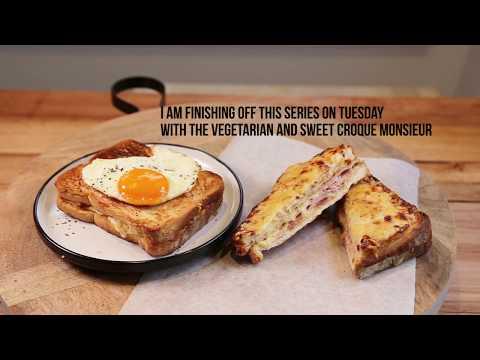 The 2 Ultimate Parisian Snacks: Croque Monsieur & Croque Madame Sandwich (Tutorial)