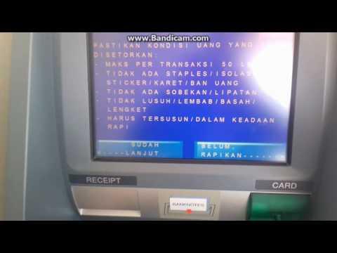 Cara setor tunai ATM Mandiri - YouTube