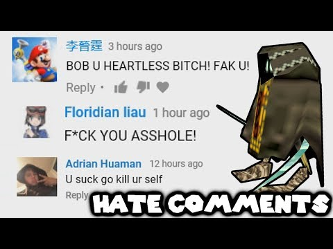 BOB READS HATE COMMENTS !!! (ROASTED SOME OF THEM)
