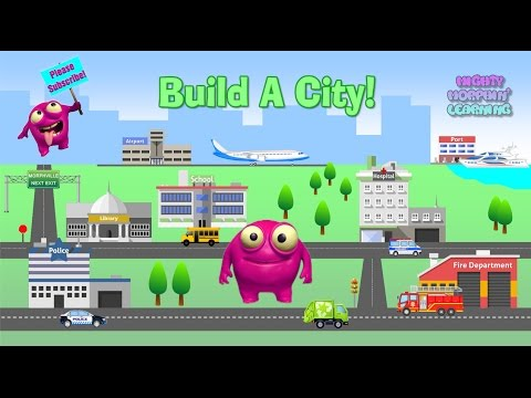 Kids Learn Vehicles, Buildings, And Services In A City | Build A City | Mighty Morphin' Learning