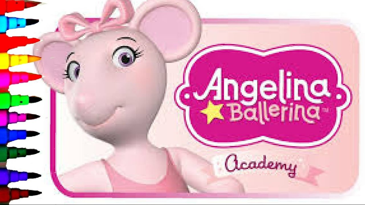 ANGELINA BALLERINA Coloring Book Pages Kids Fun Art Disney Brilliant Color  Show