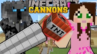 Minecraft: CANNONS & FLAMETHROWERS! (TNT & FIRE EVERYWHERE!!) Custom Command thumbnail