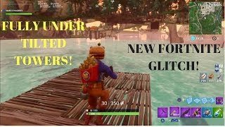 Fortnite Glitches: *FULLY UNDER THE MAP GLITCH* at Tilted Towers in Fortnite! Fully God Mode Glitch
