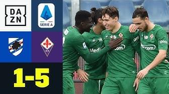 Florenz-Sturm trifft vierfach + Doppel-Rot und Eigentor: Sampdoria - Florenz 1:5 | Serie A | DAZN