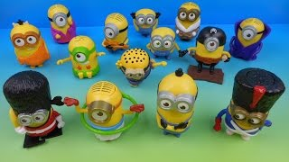 2015 MINIONS MOVIE SET OF 14 McDONALDS HAPPY MEAL KIDS TOYS VIDEO REVIEW AUSTRALIAN RELEASE