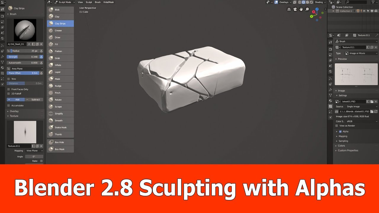 Blender 2 8 Sculpting with Alphas