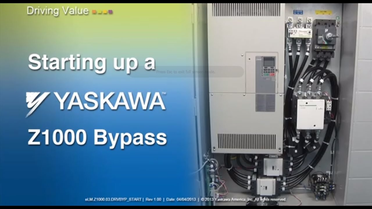starting up a yaskawa z1000 bypass youtube rh youtube com