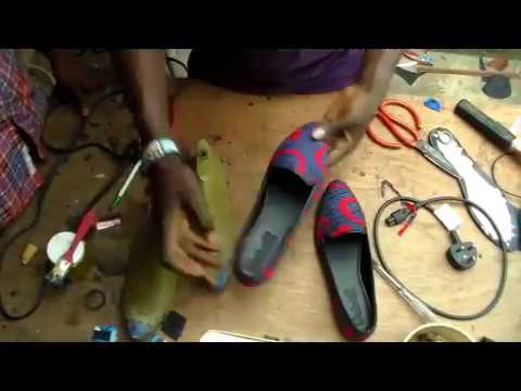 How to make  Ankara flat shoe DIY