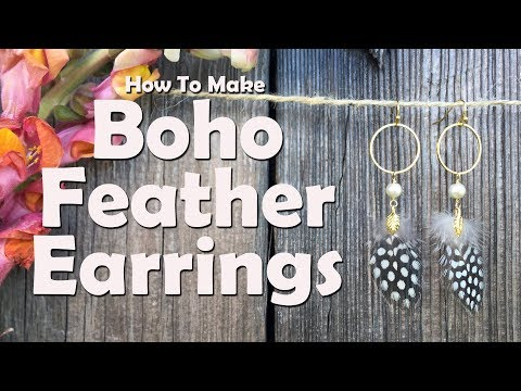How To Make Boho Feather Earrings
