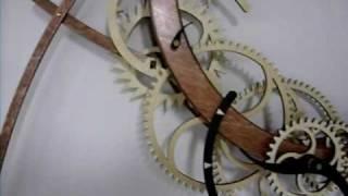 Crescent Wood Clock