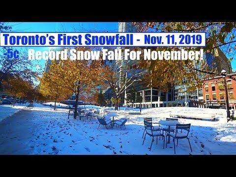 Toronto's First Snowfall