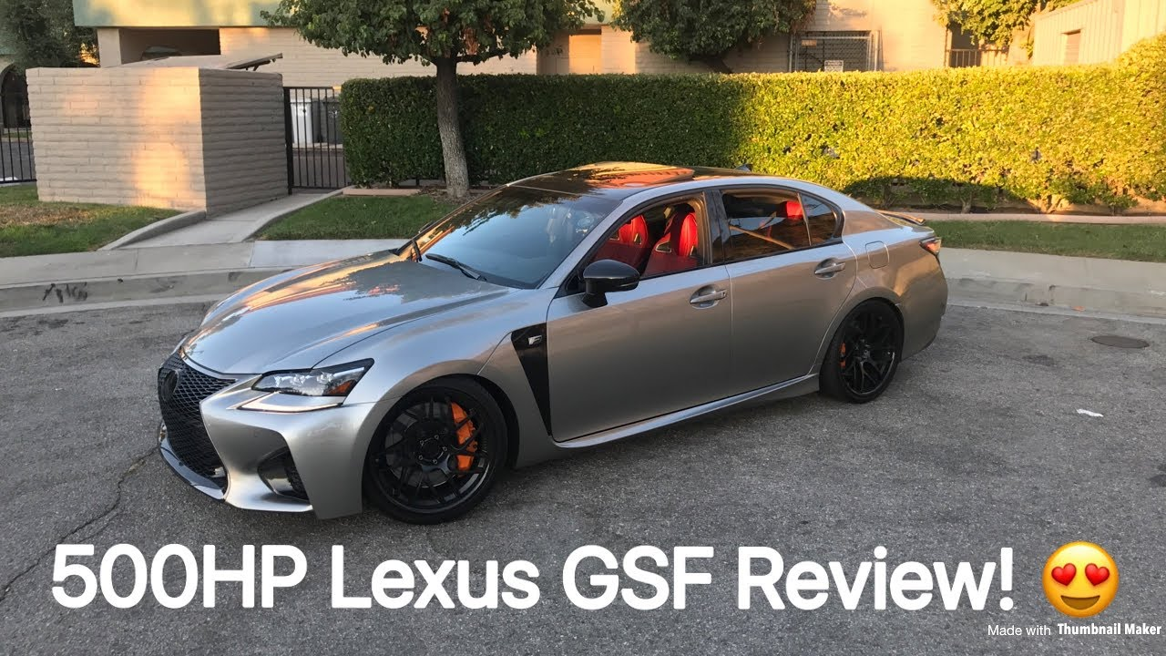 500hp Lexus GSF Review! - YouTube