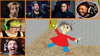 Let's Players Reaction To Cutting Playtime's Jumping Rope | Baldi's Basics In Education And Learning