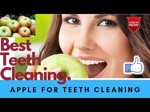 How to Clean teeth at work-Traditional Home Remedies (Apple) for Teeth Cleaning2019