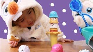 あさひとエルサが対決!アナと雪の女王アイスクリームタワー thumbnail