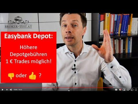 Easybank Wertpapierdepot 04/2020: Easy Broker Mit Höheren Depotgebühren, Aber Order Ab 1 € Möglich 👍