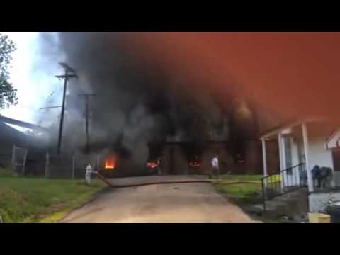 Warehouse fire at 801 Suzette in South Memphis