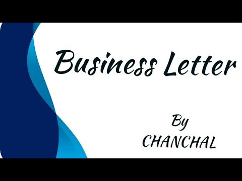 Business Letter In Hindi And Simple Language Youtube