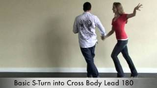 Salsa Dancing Lessons : Beginner S-Turn Moves