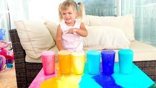 Как сделать ВУЛКАН ИЗ ЦВЕТНОЙ ПЕНЫ - Эксперименты Для Детей (Физика воды опаснее огня)  Лайфхаки
