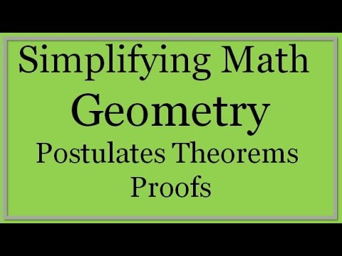 Geometry Lesson: Postulates, Theorems and Proofs (Simplifying Math)