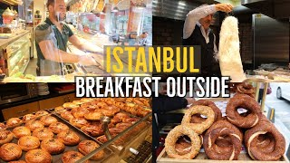 Breakfast Outside In Istanbul / How Turks Eat Breakfast In Restaurants