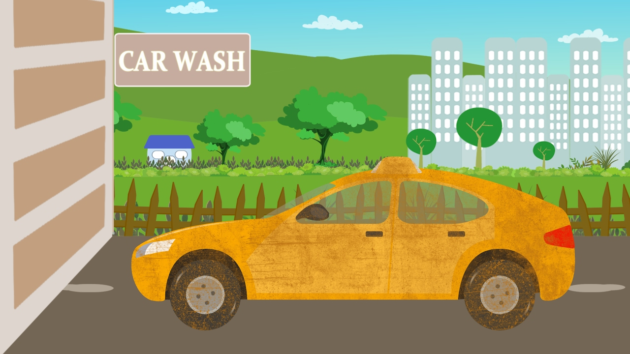 taxi car wash video for kids car wash games for toddlers