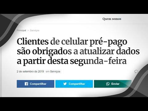 USUÁRIOS DE CHIP PRÉ-PAGO DEVEM FAZER O RECADASTRAMENTO NA ANATEL OU O CHIP SERÁ BLOQUEADO!