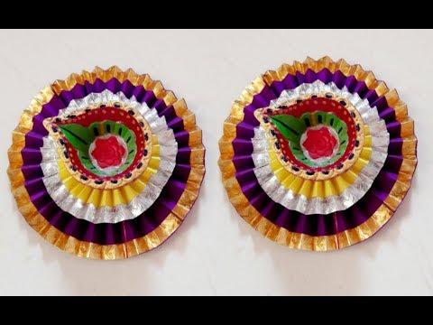 DIY How to decorate Diya  // Diwali decoration ideas