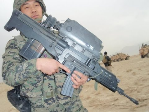 Republic of Korea ROK Army K2 tank & K11 air burst rifle
