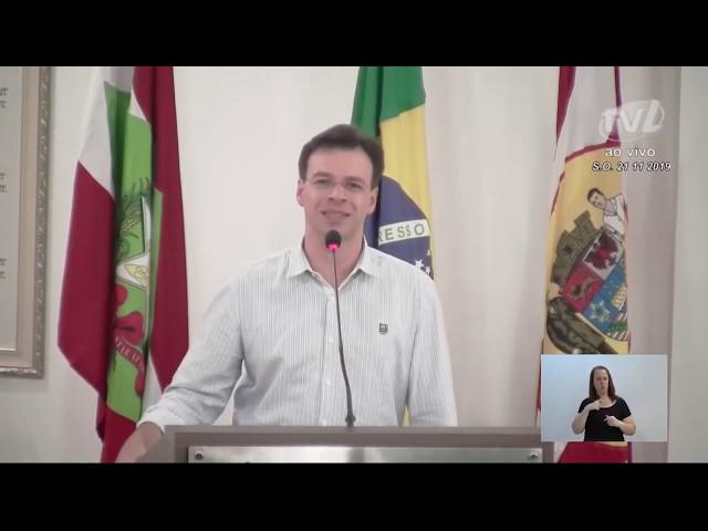21/11/2019 - Pronunciamento Sessão Ordinária