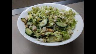 Мясной салат с пекинской капустой и дайконом | Рецепт!