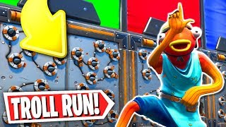 The Impossible Troll Deathrun! *200 IQ* (Fortnite Creative Mode)