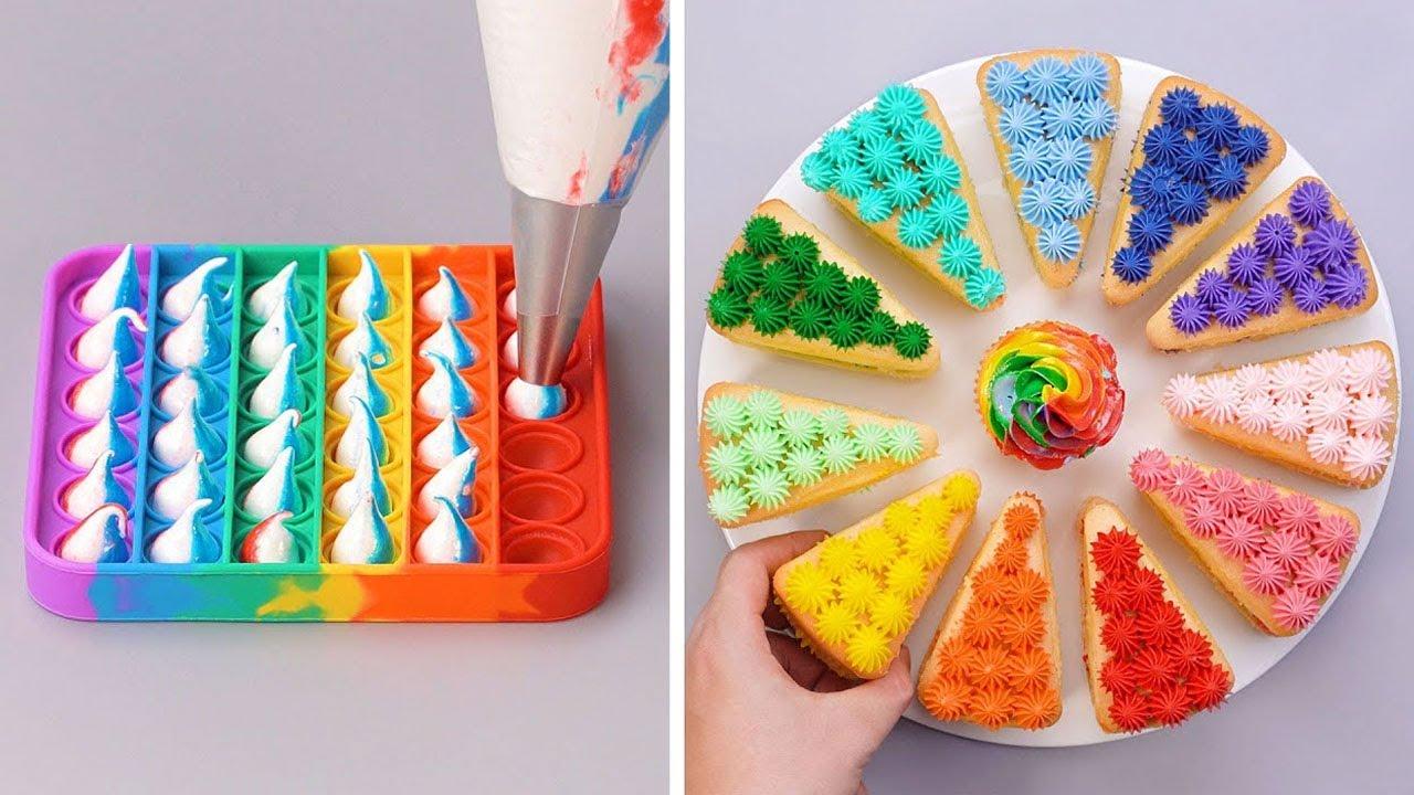 POP IT! BEST 10 LIFE HACKS 🍫🌈 So Yummy Chocolate Cake Decorating Recipes | So Tasty Cake