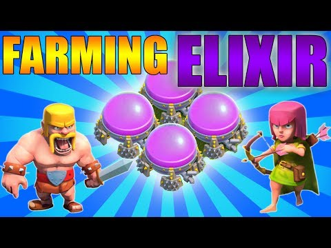 Clash of Clans - Farm Elixir FAST