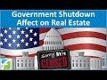 Government Shutdown Affect on Real Estate