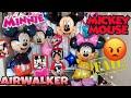 Mickey & Minnie Mouse HUGE Airwalker Balloons Keep POPPING! Helium VS Air Challenge