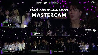 MAMA 2019 Master Cam || All Artist Reactions to MAMAMOO's Performance